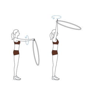 how to keep a hula hoop up