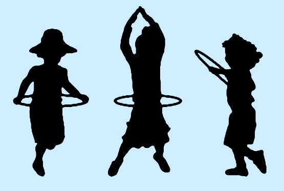 Kids Playing with Hula Hoops