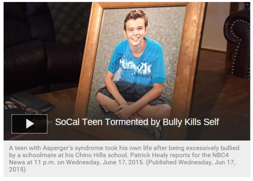 Teen with Asperger Syndrome Suicide after being bullied